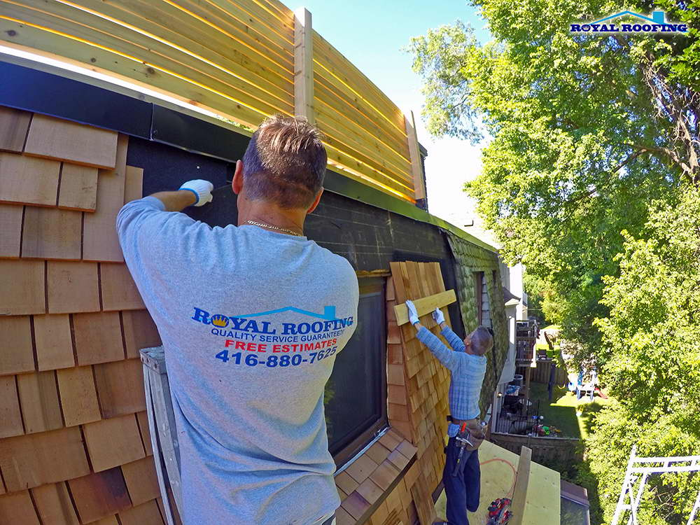 Emergency cedar roof repair in Toronto GTA