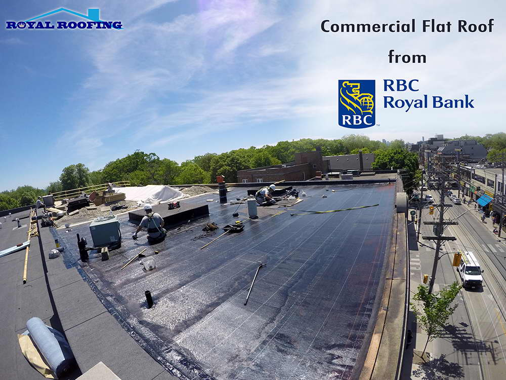 Commercial Flat Roof in downtown Toronto Beaches