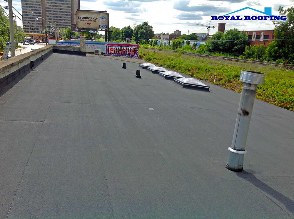 Commercial Flat Roof in Richmond Hill Ventilation