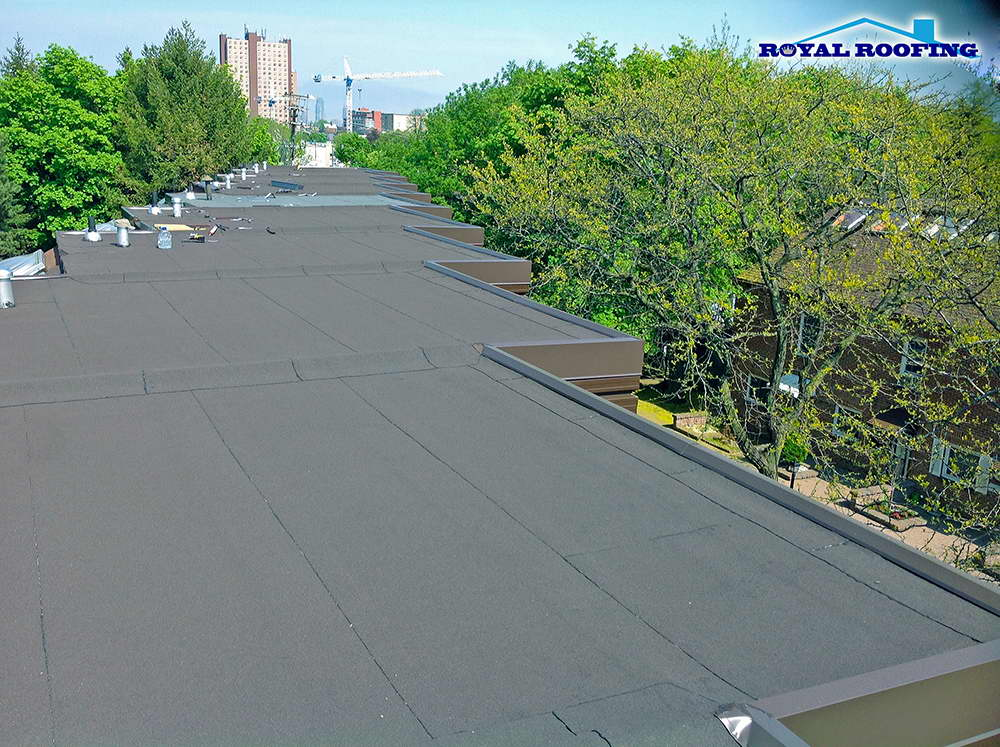 Townhouse Flat Roofing in Oakville Toronto