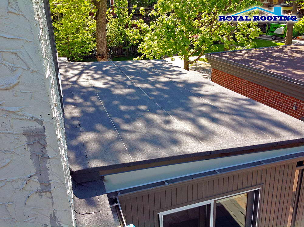 Flat roof in Scarborough, Toronto