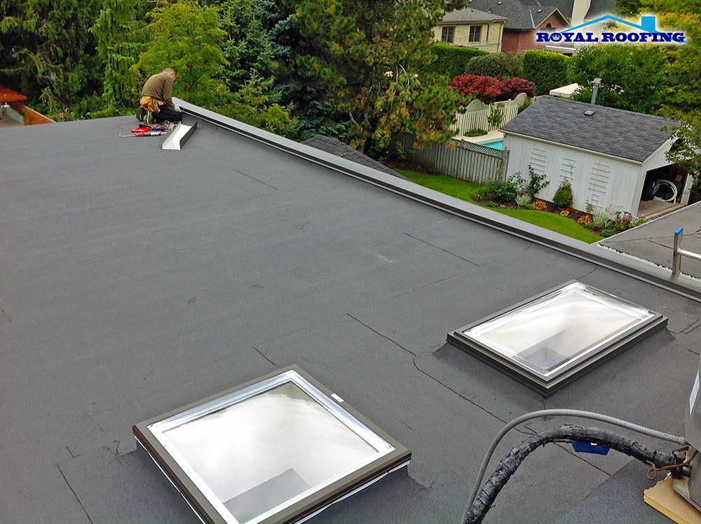 Flat Roof Replacement Metal flashing