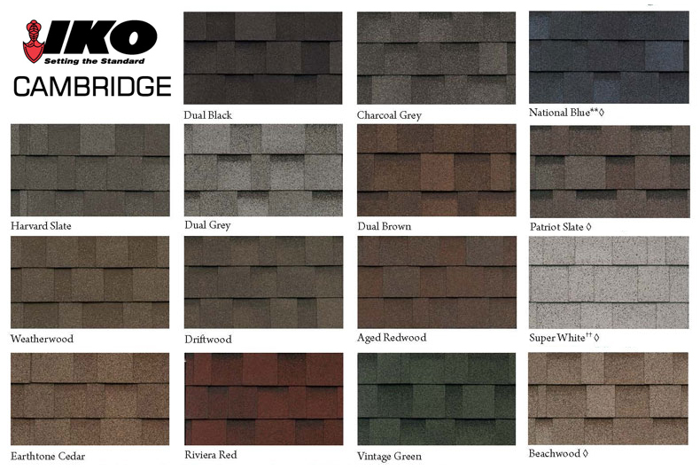 Amazing Cambridge Architectural Roofing Shingles IKO Cabridge Colors ...